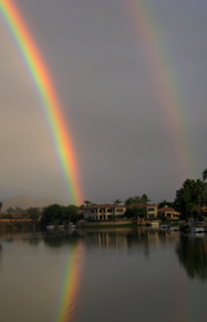 Christmas Day double rainbow, 2008