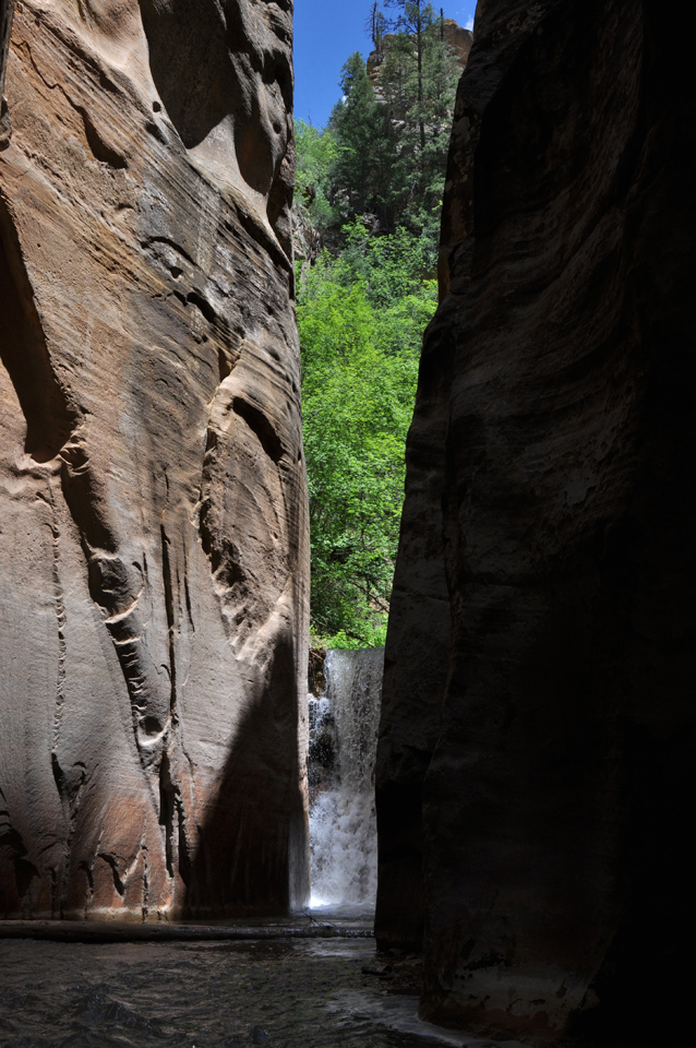 Waterfall in The Narrows, Zion National Park, 2010
