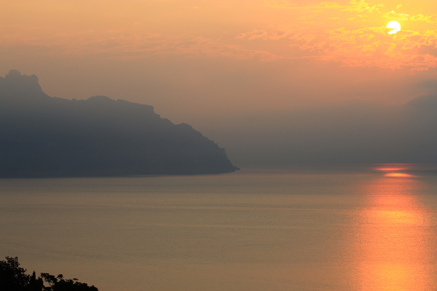 Majestic sunset, Amalfi, Italy, 2011