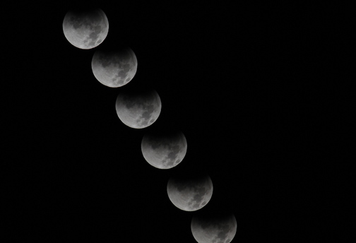 Lunar eclipse time lapse, December 10, 2011
