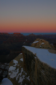 Winter sunset at Grand Canyon's Mather Point, 2009