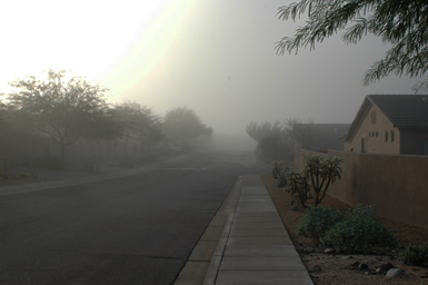 Morning fog in Arizona, 2009