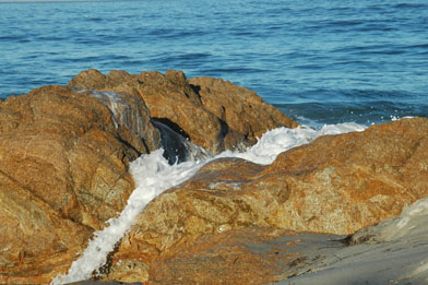 Sea foam near Monterey, 2006