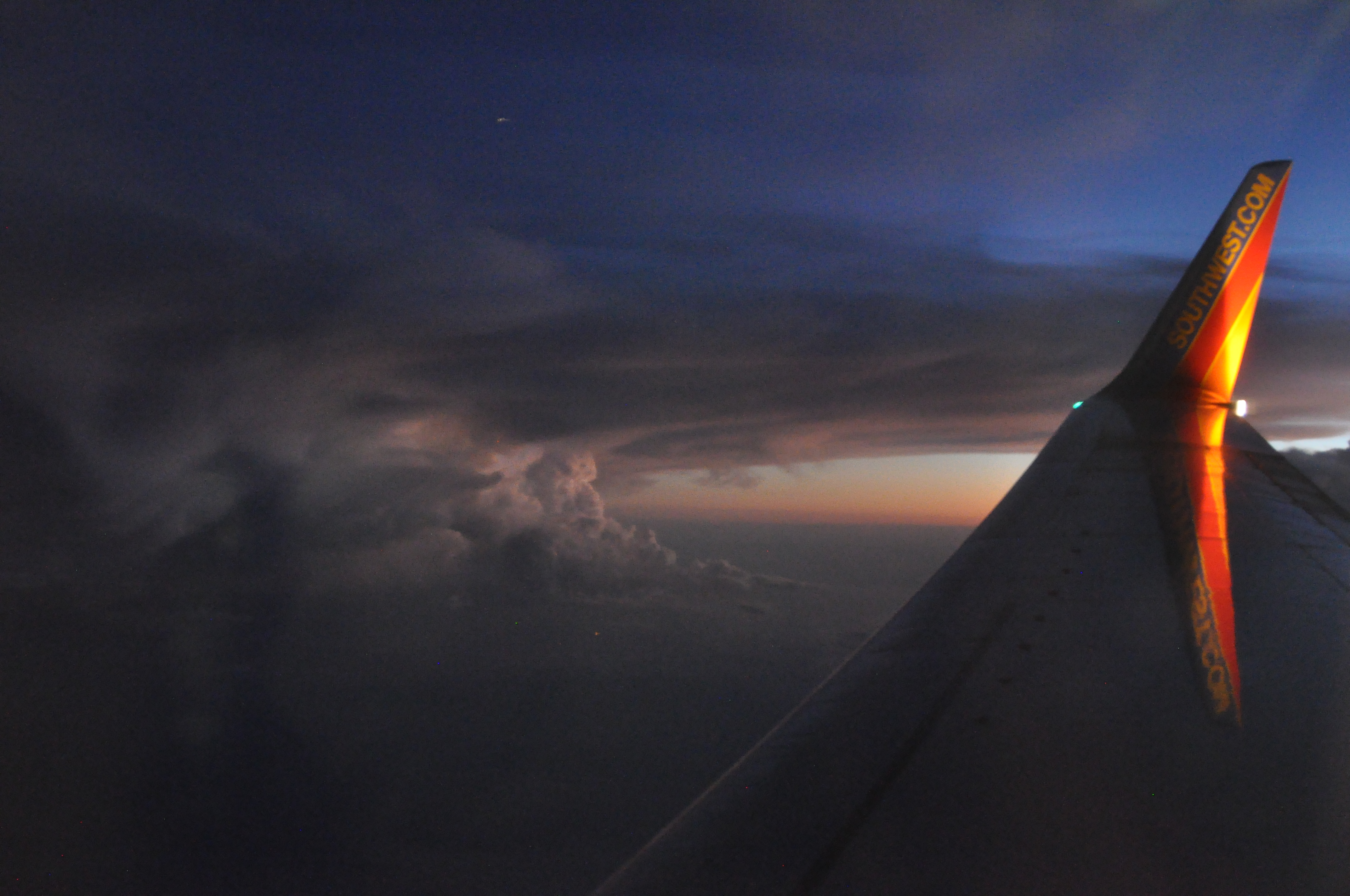 Joe Dobrow photo of clouds from a Southwest airplane