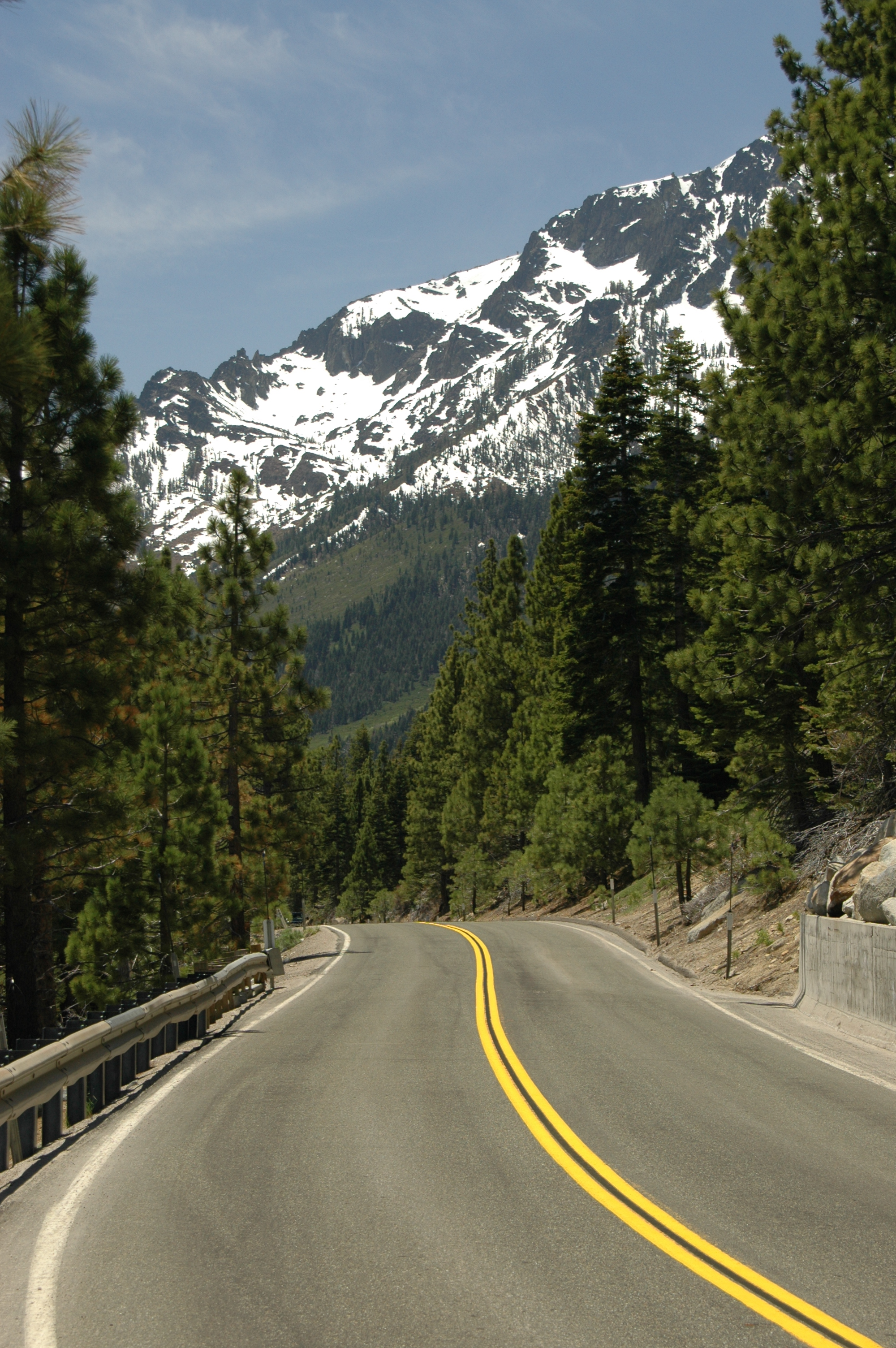 Joe Dobrow photo of a winding mountain road in Lake Tahoe