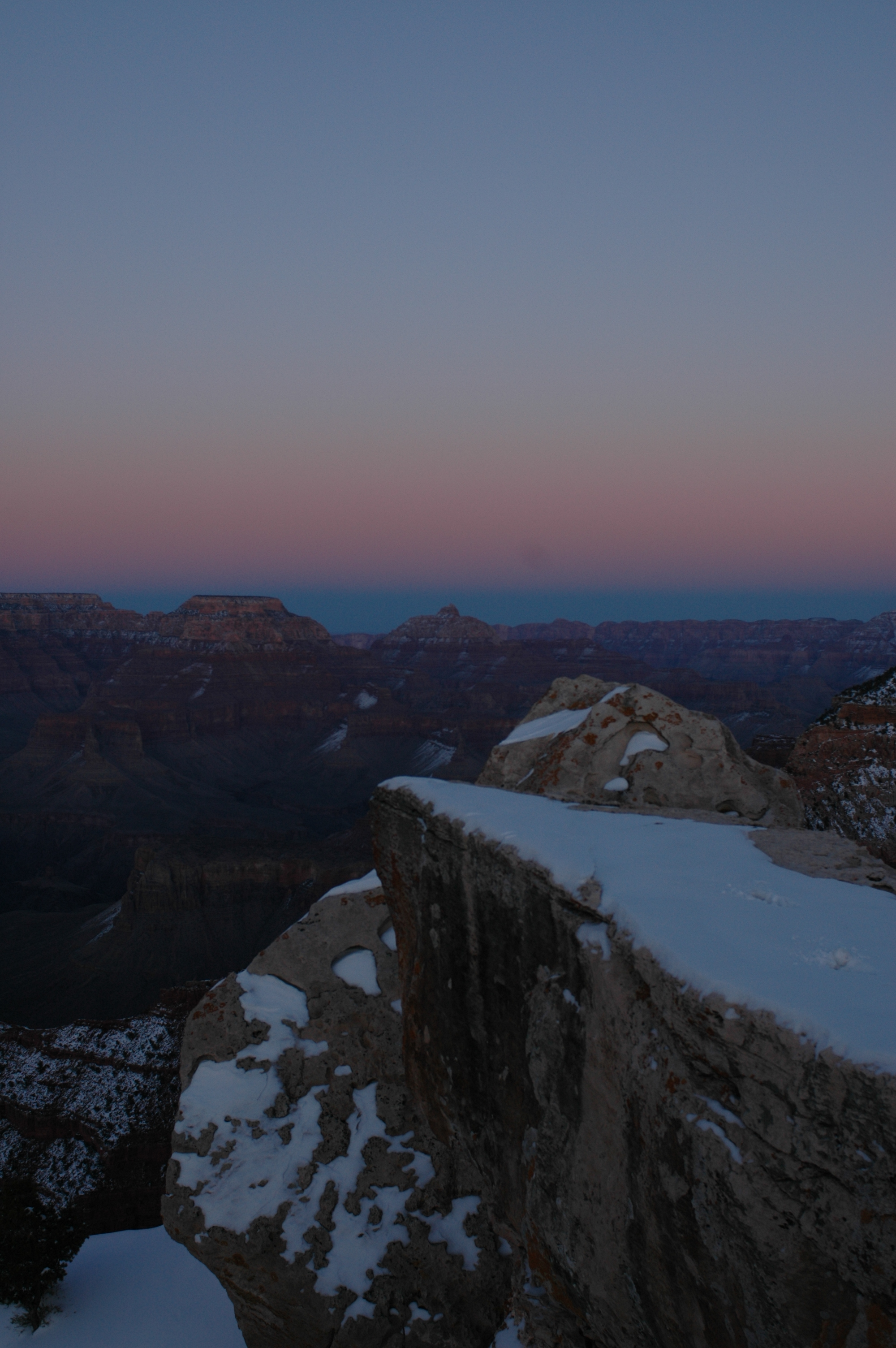 Joe Dobrow photo of winter at Grand Canyon's Mather Point
