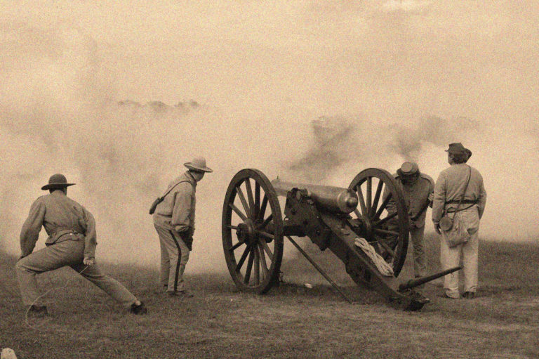 Joe Dobrow photo of cannon at Antietam 150th anniversary