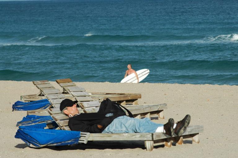 Joe Dobrow photo of man on beach in Delray, Florida