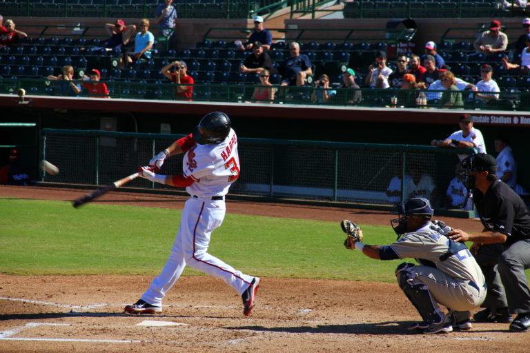 Joe Dobrow photo of a Bryce Harper homerun in the Arizona Fall League