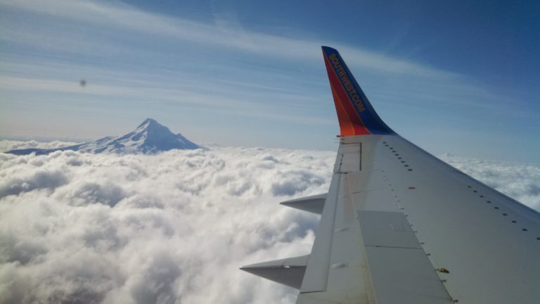 Joe Dobrow photo of clouds from a Southwest Airlines window