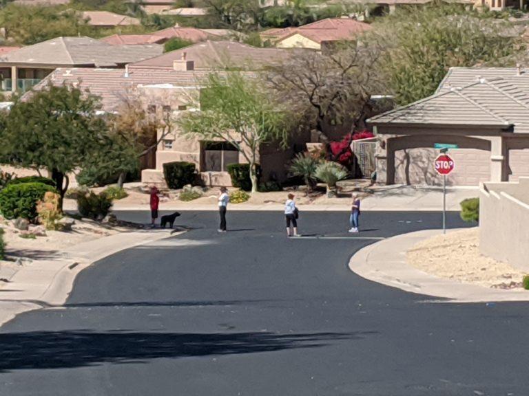 Joe Dobrow photo of social distancing in Eagle Mountain, Arizona