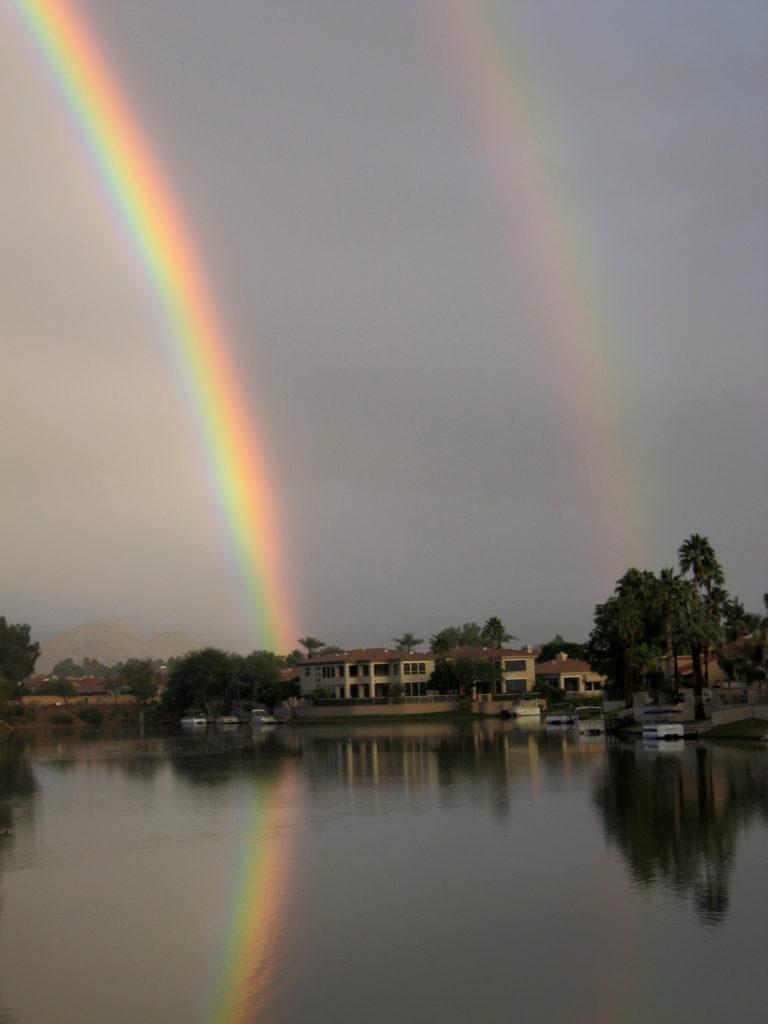 Joe Dobrow photo of a double rainbow in Scottsdale, Arizona
